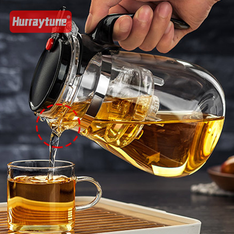 High quality Heat Resistant Glass Teapot 960ml Chinese kung fu Tea Set Puer Kettle Coffee Glass Maker Convenient Office Tea Pot in Teapots from Home Garden