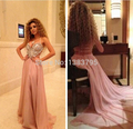Arabic Singer Myriam Fares Red Carpet Dresses 2017 A-line Halter Open Back Crystals Sexy Long Famous Imitation Celebrity Dresses
