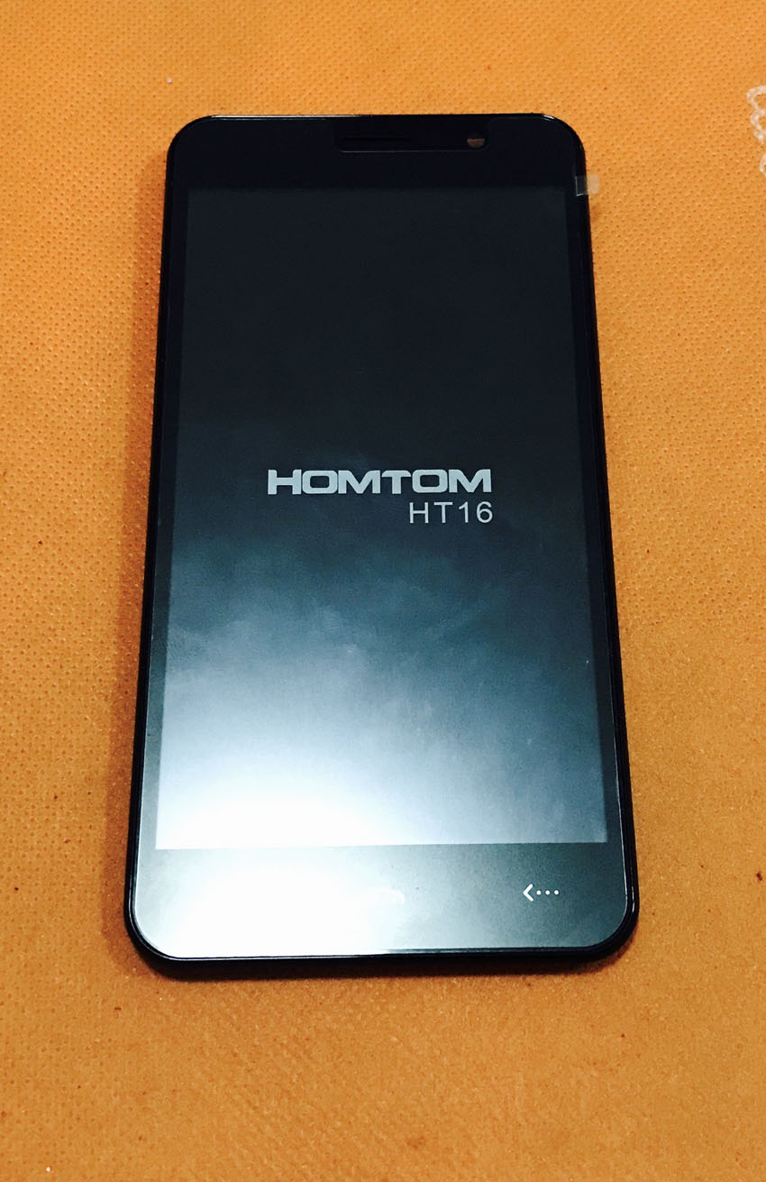 Used Original Touch screen + LCD display + Frame for HOMTOM HT16 MT6580 Quad Core 5.0 Inch Free shipping(China)