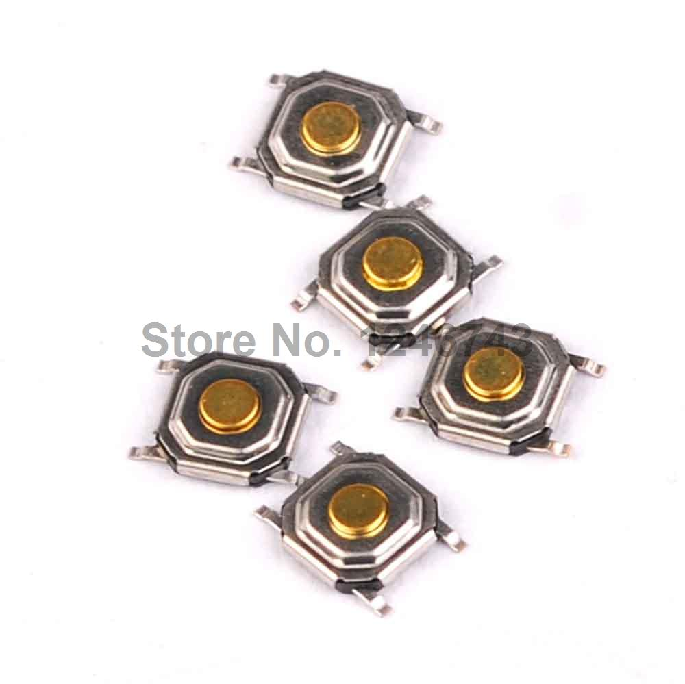100pcs touch switch 5.2x5.2x1.5 SMD 4 feet key switch  Touch button Touch micro switch 3 4mm micro switch smd 4pin new switch button key for mobile phone3x4 machine dsc0039