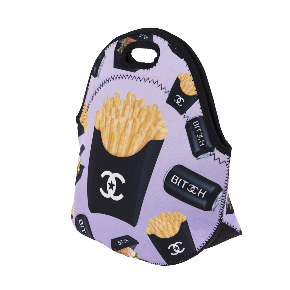 lunchbolsa com zipper cooler lancheira Gender : Women Men Boy Girl Kids Children Unisex