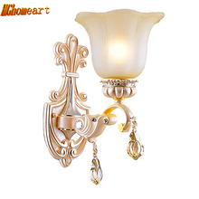 European Style Bedroom Bedside Wall Lamp Television Wall Backlight Single Head American Style Retro Sconce Aisle Stairs Light