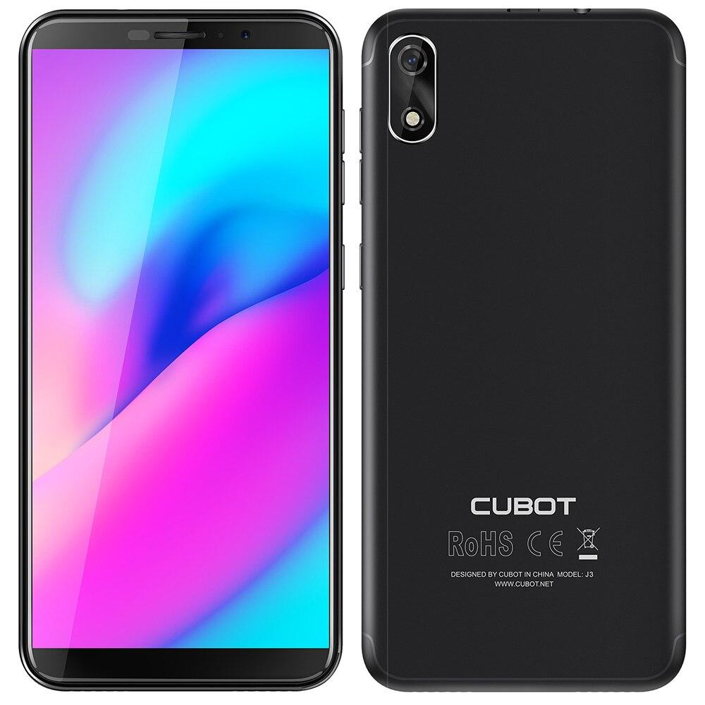 Cubot J3 3G Smartphone 5.0 pouces Android ALLER MT6580 Quad Core 1.3 GHz 1 GB RAM 16 GB ROM 8.0MP Arrière Caméra 2000 mAh Batterie Amovible