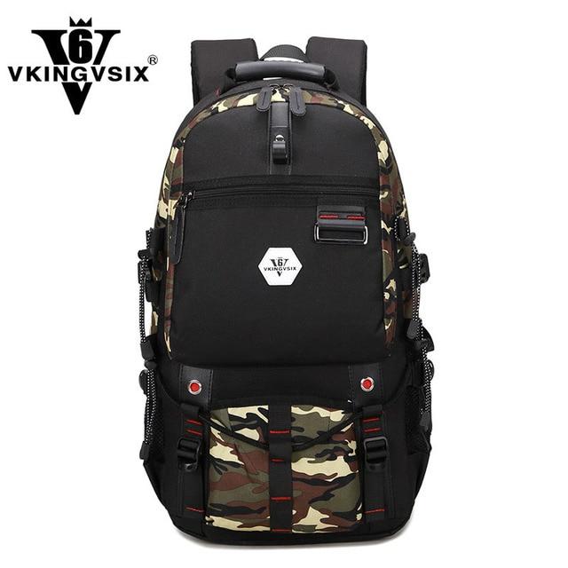 VKINGVSIXV6 Mens Backpack Large Waterproof Travel Bag ...