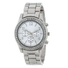 Hot SellingElegant Ladies Women's Stainless Steel Crystals Watches Wrist Watch DEC15Levert Dropship
