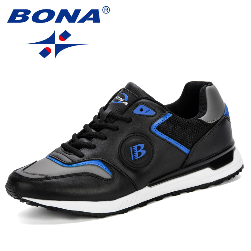 BONA New Men Shoes Summer 2019 Fashion Men Breathable Running Shoes Male Sneakers Adult Non Slip