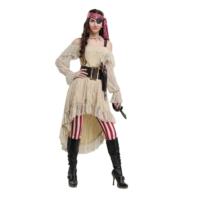 a7c07af7ba7 US $50.9 5% OFF|Aliexpress.com : Buy Deluxe Women Sweet Pirate Cosplay  Clothing High Quality Halloween Adult Comfortable Performance Costume from  ...