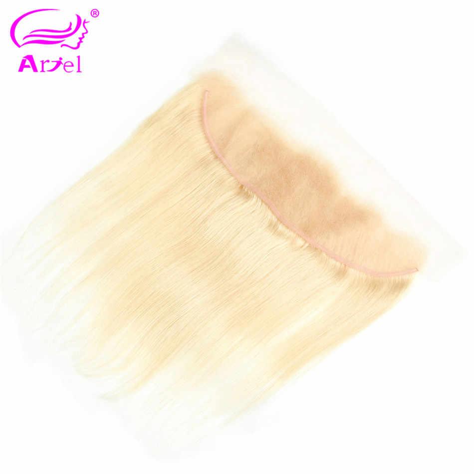 """Волосы Ариэль бразильские remy волосы 13 """"X 4"""" закрытие свободная часть 613 блонд Кружева Фронтальная Закрытие прямые 100% человеческие волосы 130% плотность"""