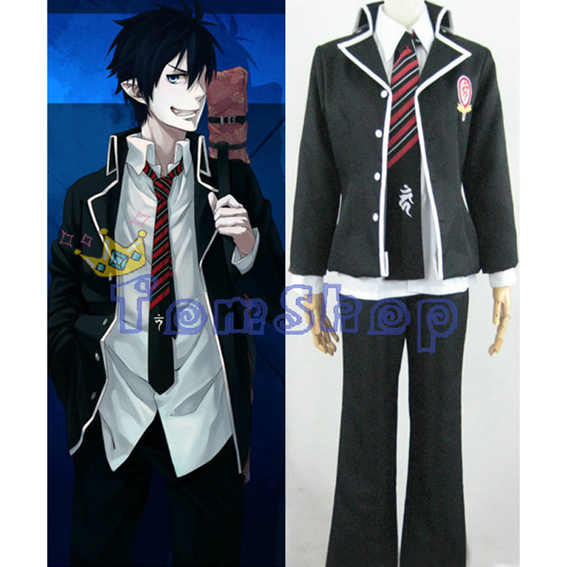 Ao No Exorcist Blue Exorcist Okumura Rin Cosplay Uniform Suit Full Set Men's Halloween Costumes Custom-made Free Shipping