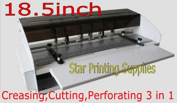 NEW 18.5inch 470mm Electric Creaser Scorer Perforator Cutter 3in1 combo Paper Cutting Creasing Perforating machine 3 in 1