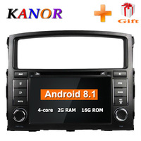 KANOR Android 8.1 2din Car Radio For Mitsubishi Pajero 2006 2007 2008 2009 2010 2011 2012 With WIFI GPS Car Multimedia Player