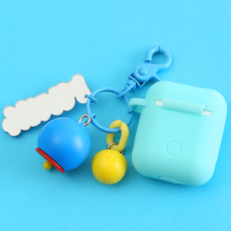 Newest Cute Decorative Silicone Case for Apple Airpods Bluetooth Earphone Accessories 1 2 Case Protective Cover Bags Key Ring in Earphone Accessories from Consumer Electronics
