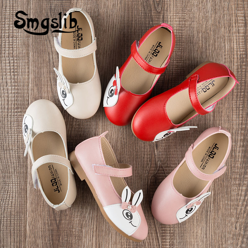 dziecięce dziewczęce buty wiosna Kreskówka królicze skórzane - Obuwie dziecięce - Zdjęcie 5