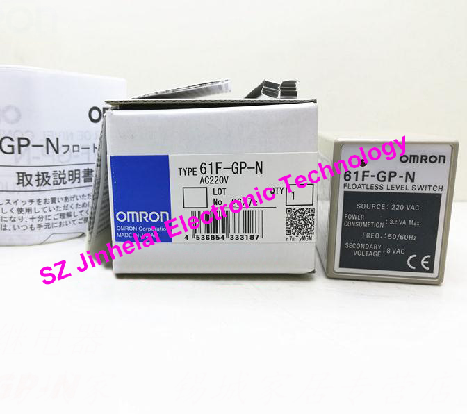 New and original 61F-GP-N AC220V OMRON Liquid level relay water level controller 220VAC dhl ems 2 sets new for omron relay my4n gs 220vac