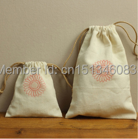 100pcs/lot cotton jewerly gift storage and packaging drawstring dust bag pouch