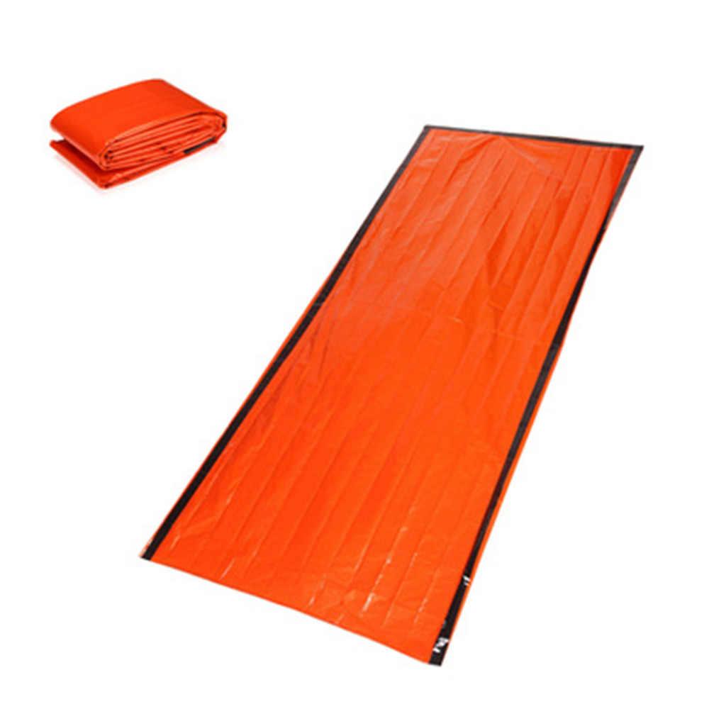 屋外サバイバル寝袋キャンプハイキング熱防水キャンプ緊急睡眠ギア再利用可能な bagспальный мешок & xs