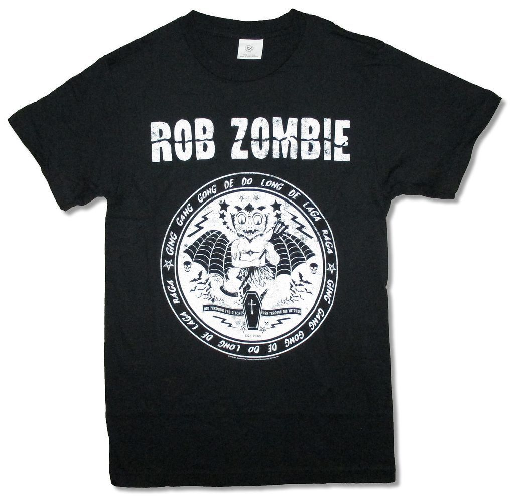 Rob Zombie Devil Seal Black T Shirt New Official Merch Soft Burn Witches