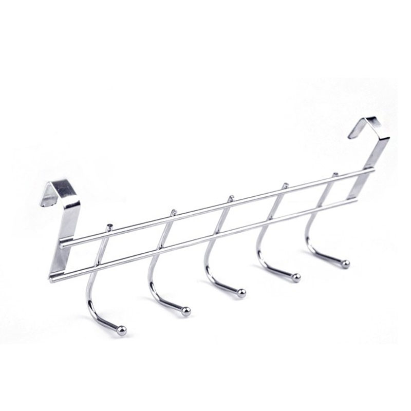 5 Hook Bold Stainless Steel Cabinet Back Hook Home Storage Supplies Doors And Windows Kitchen Towel Cleaning Cloth Hanger Hook