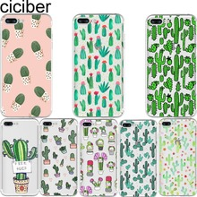 ciciber Phone Cases Fashion Cactus Soft Silicone Clear TPU Back Cover Fundas Coques for Apple Iphone 7 8 Plus 6 6S Plus 5S SE X