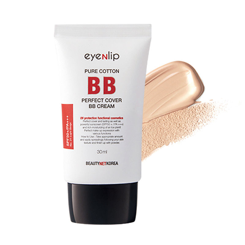 Best Korea Cosmetics EYENLIP Pure Cotton Perfect Cover BB Cream SPF50+PA+++ 30ml Whitening Nude Makeup Concealer Isolation цены