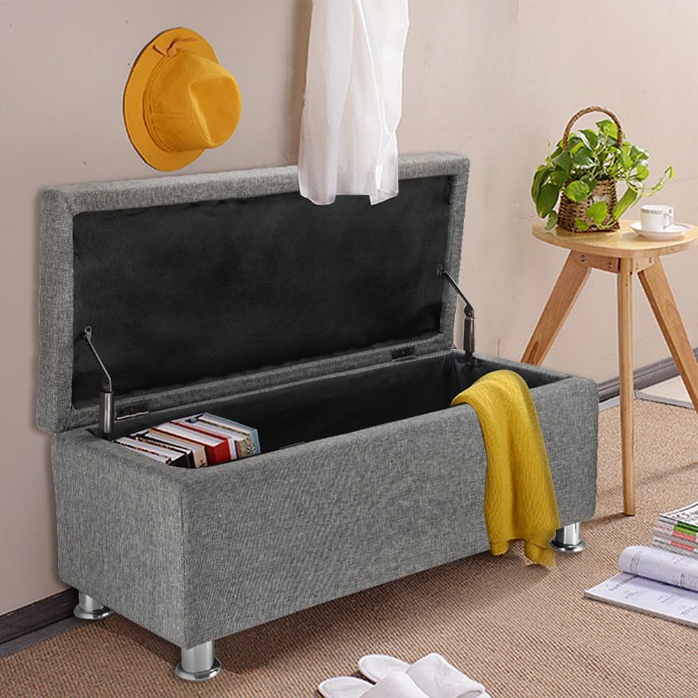Lujoso Almacenamiento De Muebles De Color Beige Otomana Inspiración ...