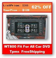 Free Shipping WT800 DVD TPMS with 4 sensors for CAR DVD GPS Internal Sensor TPMS Tire Pressure Monitoring System Support Psi Psy
