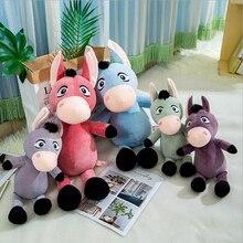 New Style Funny Donkey Short Plush Toys Stuffed Animal Soft Doll Toy Children Birthday Gift Baby