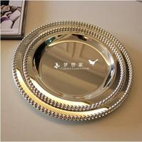 Diameter30/25 cm round metal tray for cake pastry desserts fruits foods sugars wedding home hotel tableware decoration SG095