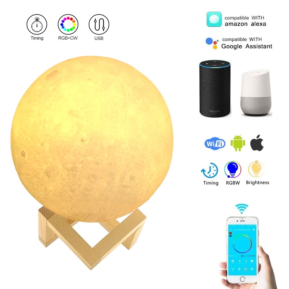 BB SPEAKER Night light Moon Lamp Warm White Moon Light 2 Color Touch Control Led 3D USB Bedroom Bookcase Decor For Baby Gift 3d moon light touch sensor remote control bedroom novelty night light moon lamp luminaria led for baby kids christmas