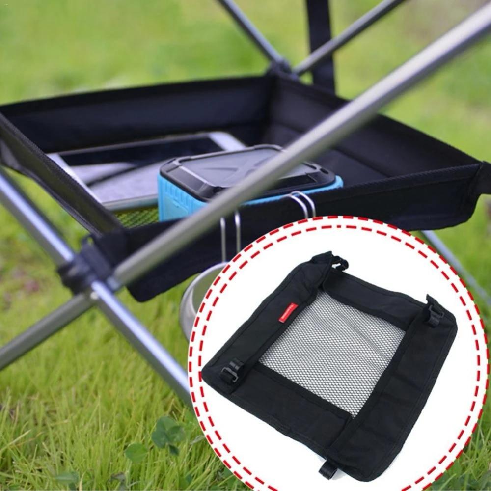 Mesh Net Picnic Storage Basket Folding Table Bag Kitchen Bag Rack Organizer