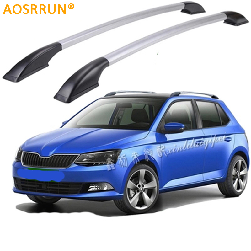 AOSRRUN Car Roof rack Luggage Carrier bar Car Accessories For Skoda fabia 2010 2011 2012 2013 2014 2015 car roof rack luggage carrier bar car accessories for renault captur 2014 2015