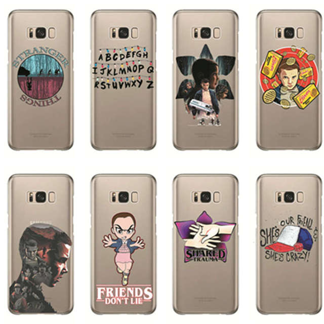stranger things christmas lights soft tpu transparent phone cover cases for samsung galaxy 2017 2016 2015