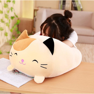 90cm Cute Cushion Cat Pillow Animal Cushions Cartoon Plush Toy Stuffed Big Pillows Kids Birthyday Gift for Children Dropshipping