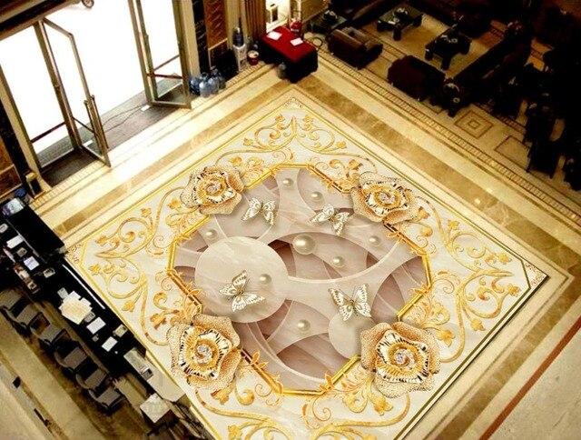 Fußboden Fliesen Selbstklebend ~ Europäischen luxus d foor fliesen wohnzimmer wasserdichte