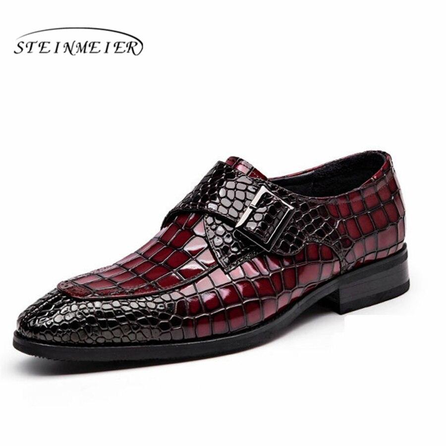 100% QualitäT Herren Formale Schuhe Leder Männer Kleid Oxford Schuhe Für Männer Dressing Hochzeit Business Büro Schuhe Schnalle Männlichen Zapatos De Hombre
