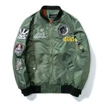 Men Fashion Pilot Bomber Jacket Couple Motorcycle Baseball Jacket European Design Youth Streetwear Spring Autumn Windbreaker