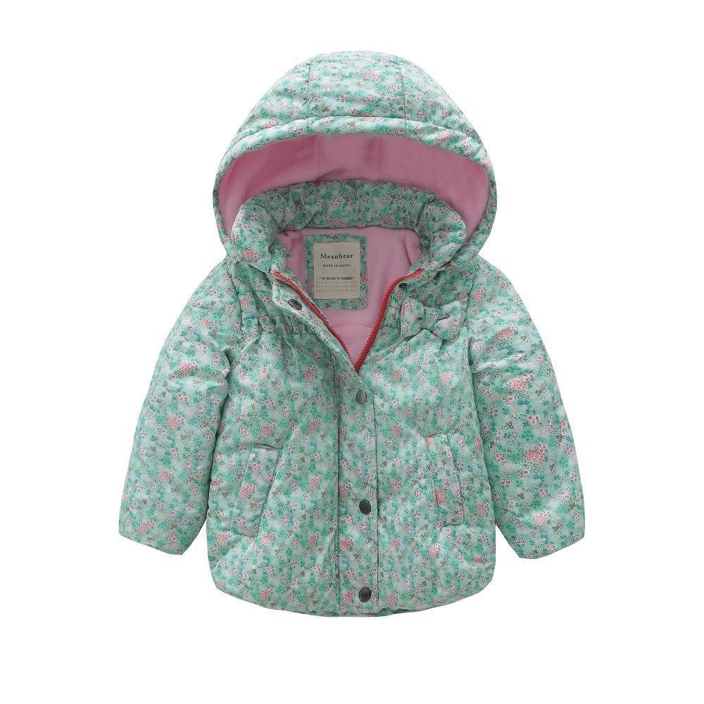 все цены на M118 Winter Child Thicken Warm Padded Lining Jacket Print Hooded Boys Parka Coats Kids Tops Spring Autumn Outwear Girls Jacket
