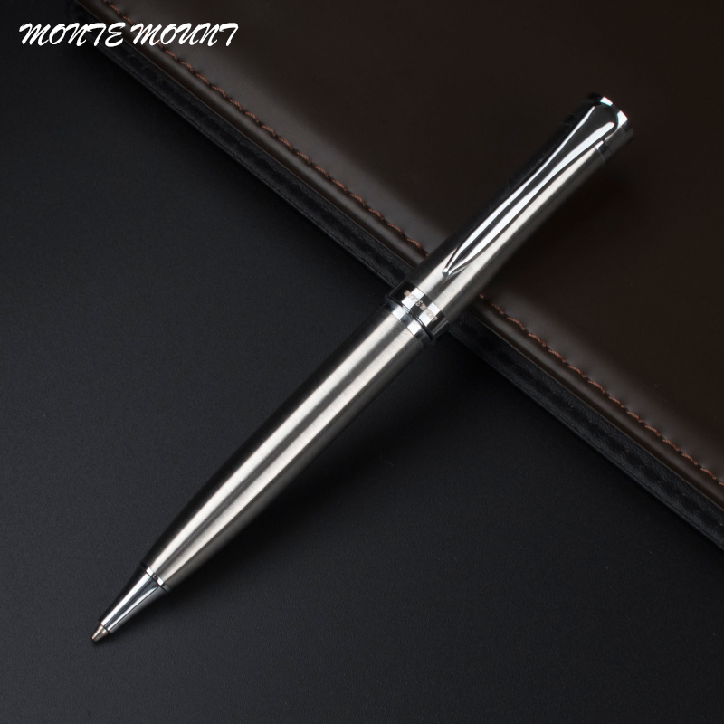 MONTE MOUNT Luxury stainless steel Ballpoint Pen stationery executive office supplies writing pens стоимость
