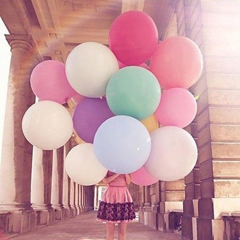 Decor Decoration 12 Colors Party Birthday Balloons 36 Inch 2 Pcs Latex