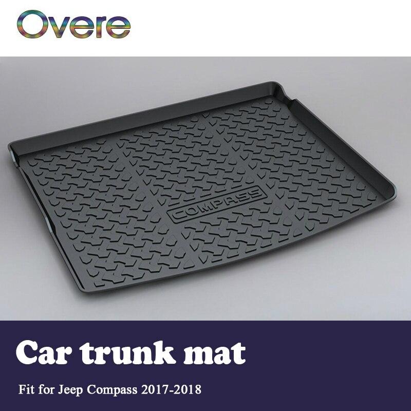 Overe 1 set Auto di Carico posteriore tronco Zerbino Per Jeep Compass MP/552 2017 2018 Stile di Avvio Fodera Impermeabile anti-slip Zerbino accessori