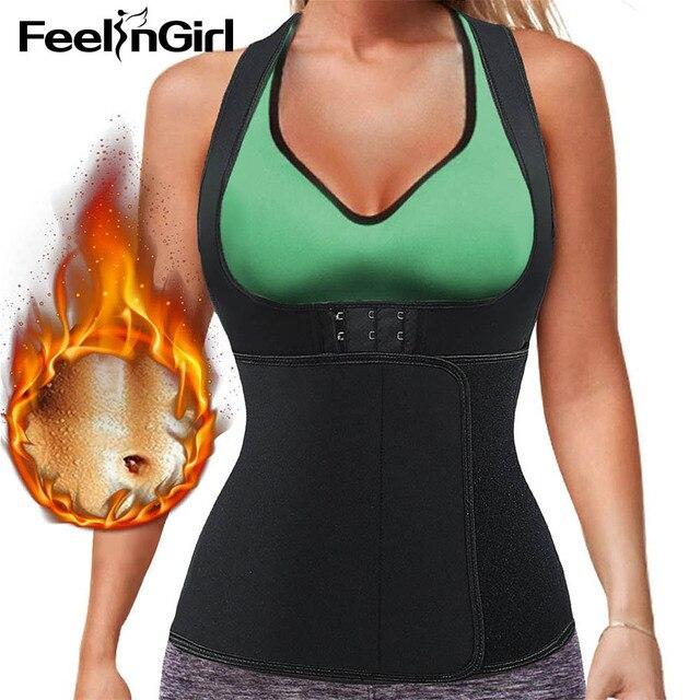 e4c1ac7585 FeelinGirl Hot Shapers Neoprene Sauna Sweat Vest Waist Trainer Cincher Women  Body Slimming Trimmer Corset Thermo