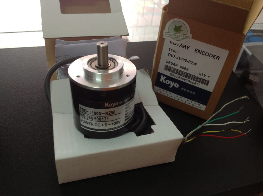 Freeship Koyo encoder TRD-J1000-RZW TRD-J1000RZW TRD-J series incremental rotary encoder 1-year warranty high performance rotary encoder trd j100 s