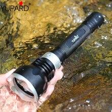 Yupard XM L2 led t6 lâmpada de luz mergulho subaquático diver lanterna tocha à prova dwaterproof água 18650 bateria recarregável branco luz amarela