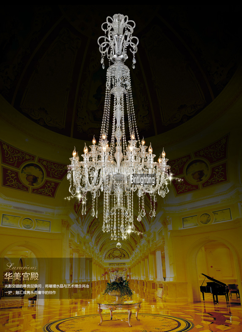 Large Chandeliers Living Room Victorian Foyer Bohemian Crystal Chandelier China Led High Ceiling Hallway In From Lights