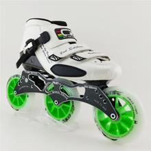 High Quality Carbon Fiber Speed Skating Adults Professional Inline Speed patins roller Slalom Skates Shoes With 3X110mm Wheels