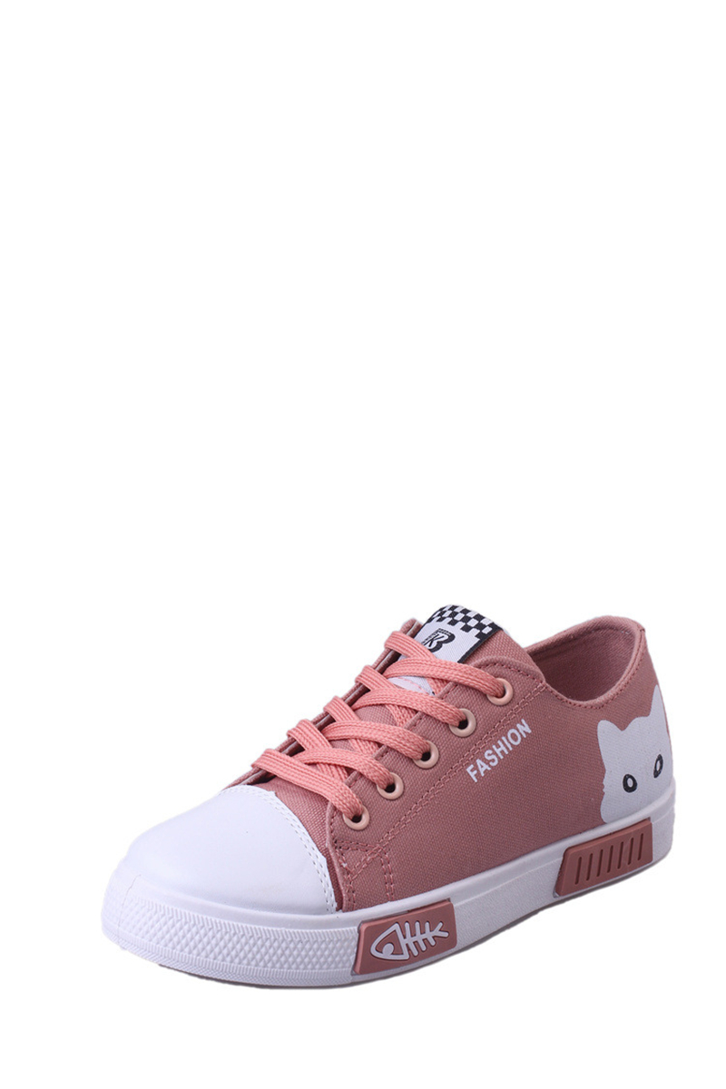 Cute Animal Women's flat canvas shoes