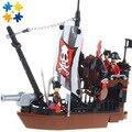 WMX Классический Pirate Серии 13118 Пиратский Корабль Avenger 167 шт. Рисунках Строительный Блок Устанавливает Образовательные Дети DIY Кирпичи Игрушки