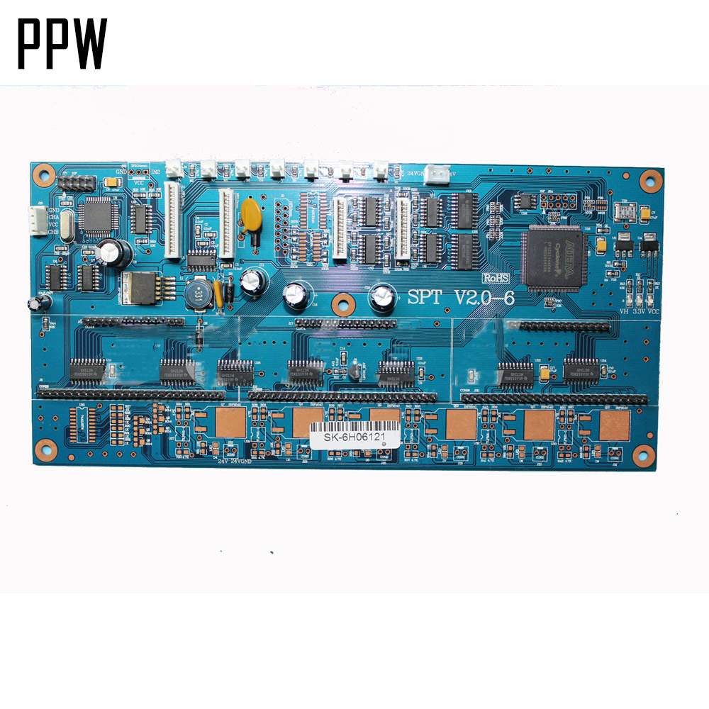 6 colors Carriage Printhead Board For Crystaljet CJ-3000II Series Printer without adapter board original roland print carriage board w700241211 for fp 740 printer