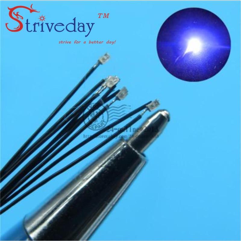 20pcs/lot 0402 SMD Pre-soldered Micro Litz Wired LED Leads Resistor 20cm 8-15V Model DIY