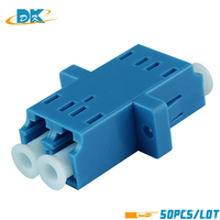 50pcs/lot LC LC Fiber Optic adaptor FTTH DX SM Duplex LC UPC Flange Connector,FTTH Fiber Optic Fast Adapter